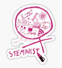 Steminist with Lipstick STEM Feminist Sticker