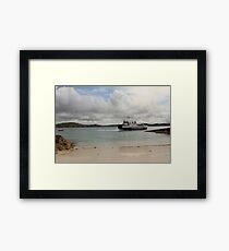 MV Loch Buie leaving Iona Framed Print