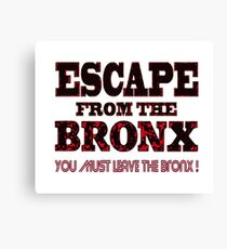 Escape From The Bronx - V2 Canvas Print