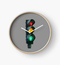Traffic Lights Red Yellow Green Clock