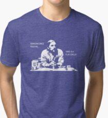 Time is a Flat Circle Tri-blend T-Shirt
