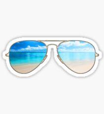 beach glasses Sticker