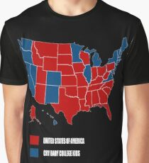 UNITED STATES OF AMERICA ELECTION MAP SHIRT Graphic T-Shirt