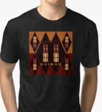 Whoa Whoa Domino Tri-blend T-Shirt