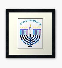 Happy Hanukkah Menorah Framed Print