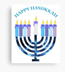 Happy Hanukkah Menorah Canvas Print