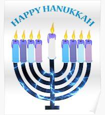 Happy Hanukkah Menorah Poster