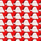 Minimalist Red Santa Claus Holiday Ideas by Melissa Park