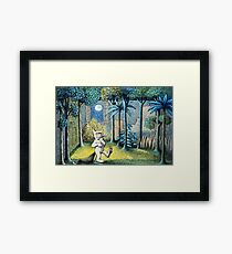 Where the Wild Things Are - Max in the jungle Framed Print