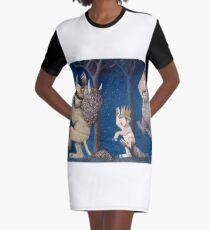 Where the Wild Things Are Wild Rumpus at night Graphic T-Shirt Dress