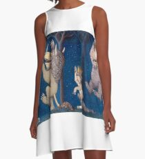 Where the Wild Things Are Wild Rumpus at night A-Line Dress