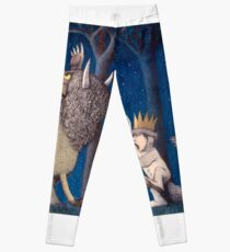 Where the Wild Things Are Wild Rumpus at night Leggings