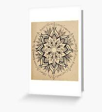 Wheel Mandala of Dharma  Greeting Card
