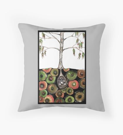 What's in the echidna burrow? Throw Pillow