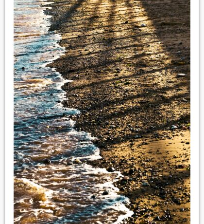 Sea Sand and Shadows Sticker