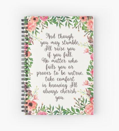 Song 89 Spiral Notebook