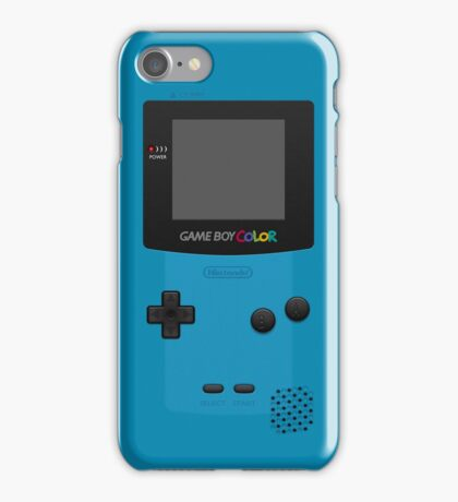 Blue Nintendo Gameboy Color iPhone Case/Skin