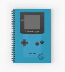 Blue Nintendo Gameboy Color Spiral Notebook