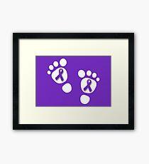 World Prematurity Day - Baby Feet Framed Print