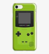 Green Nintendo Gameboy Color iPhone Case/Skin