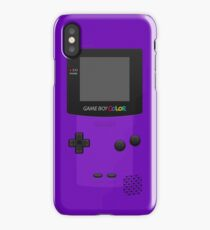 Purple Nintendo Gameboy Color iPhone Case