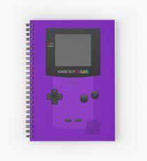 Purple Nintendo Gameboy Color Spiral Notebook