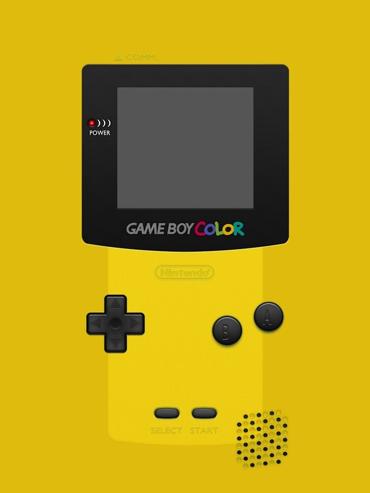 Color amarillo de Nintendo Gameboy de bubblywums