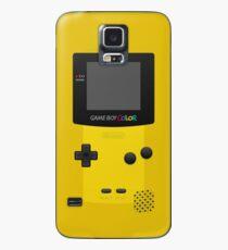 Gelber Nintendo Gameboy Color Hülle & Klebefolie für Samsung Galaxy