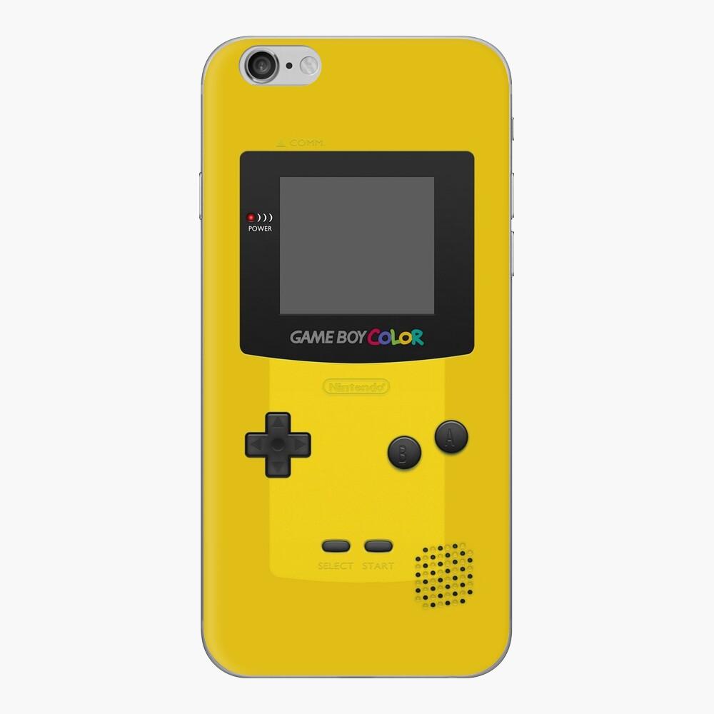 Gelber Nintendo Gameboy Color iPhone-Hüllen & Cover