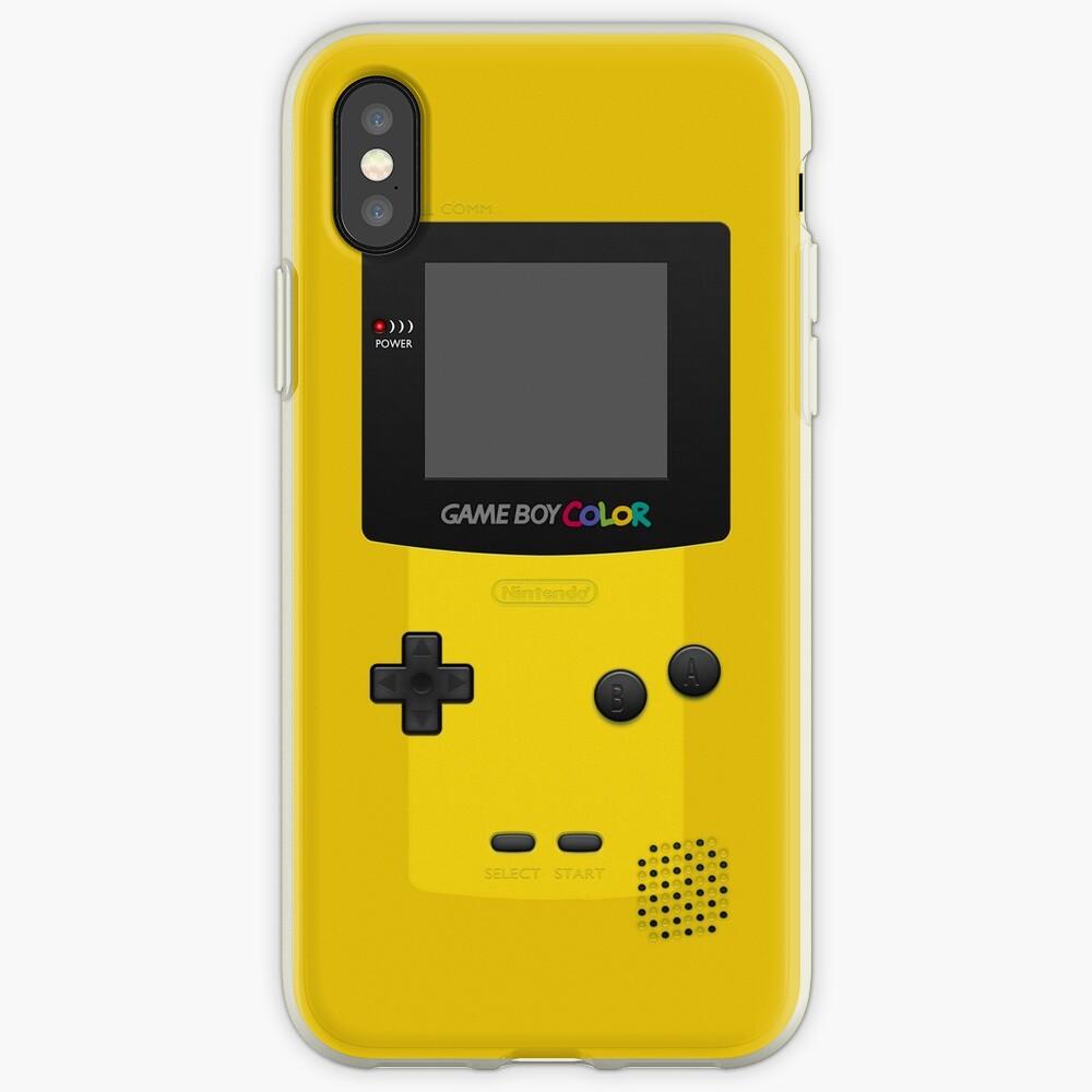 Color amarillo de Nintendo Gameboy Vinilos y fundas para iPhone