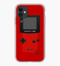 Red Nintendo Gameboy Color iPhone Case