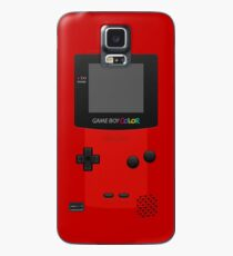 Red Nintendo Gameboy Farbe Hülle & Klebefolie für Samsung Galaxy