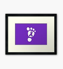 World Prematurity Day - Baby Foot Framed Print