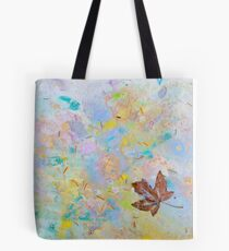 Soaring Leaf 'Rain Painting' Tote Bag