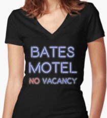 No Vacancy Here Women's Fitted V-Neck T-Shirt