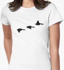 Duck Flight Womens Fitted T-Shirt
