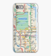 MTA Subway Map New York Manhattan Phone Case iPhone Case/Skin