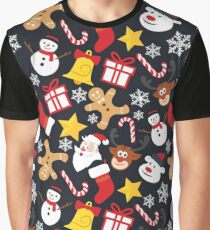 Cool Christmas Collage Graphic T-Shirt
