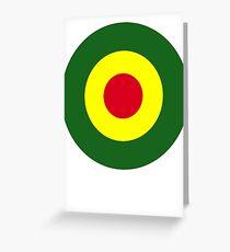 Rasta Mod Target Greeting Card