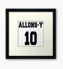 Allons-y - The 10th Doctor Framed Print
