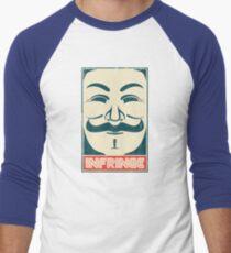 Mr. Anonymity Men's Baseball ¾ T-Shirt