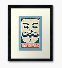 Mr. Anonymity Framed Print