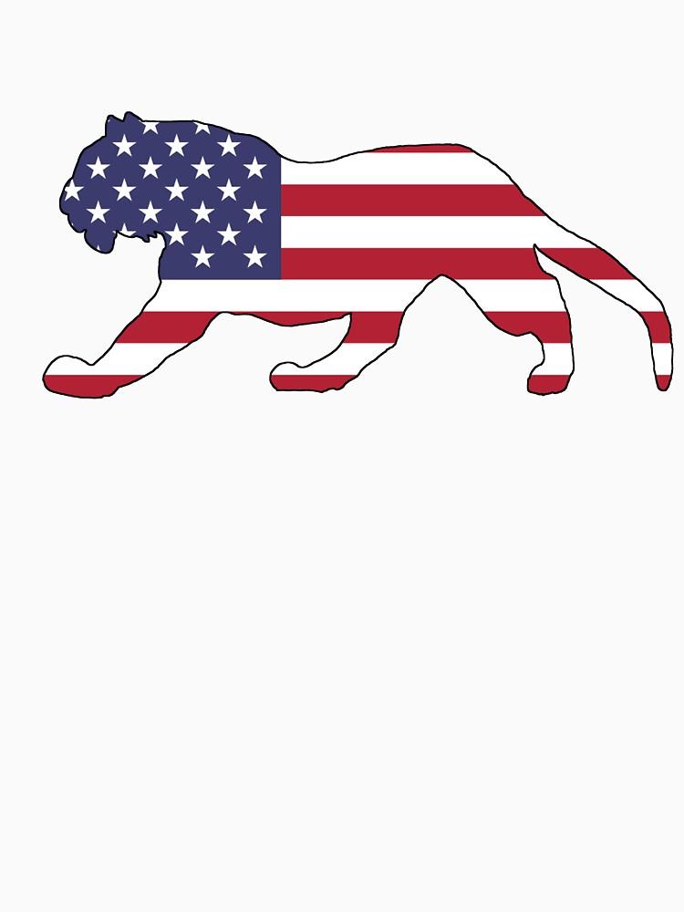 American Flag – Tiger by DelirusFurittus