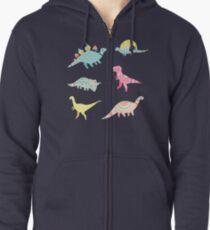 Dinosaurier-Muster Hoodie mit Reißverschluss