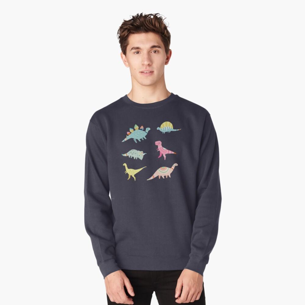 Dinosaurier-Muster Sweatshirt Vorne