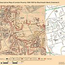 Booth's Map of London Poverty for Blackheath ward, Greenwich by ianturton