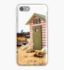 Miniature day at the beach iPhone Case/Skin