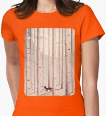 Serene Forest Womens Fitted T-Shirt