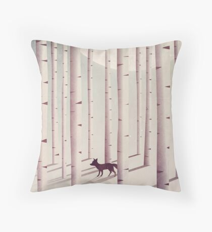 Serene Forest Throw Pillow