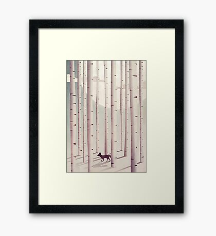 Serene Forest Framed Print
